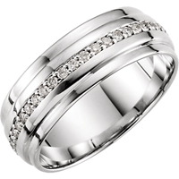 Picture of 0.33 Total Carat Eternity Wedding Round Diamond Ring