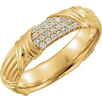 Picture of 0.25 Total Carat Designer Wedding Round Diamond Ring