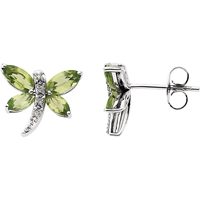 Picture of 0.04 Total Carat Stud Round Diamond Earrings