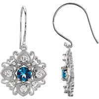 Picture of 0.50 Total Carat Designer Round Diamond Earrings