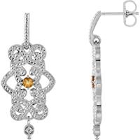 Picture of 0.03 Total Carat Designer Round Diamond Earrings