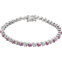 Picture of 0.11 Total Carat Line Round Diamond Bracelet