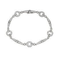 Picture of 1.63 Total Carat Designer Round Diamond Bracelet