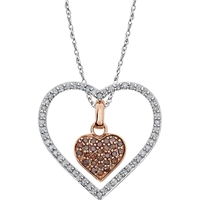 Picture of 0.33 Total Carat Heart Round Diamond Necklace