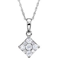 Picture of 0.33 Total Carat Designer Round Diamond Necklace