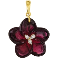 Picture of 0.01 Total Carat Floral Round Diamond Pendant