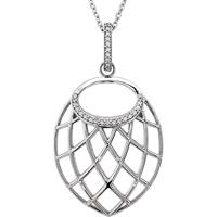 Picture of 0.06 Total Carat Designer Round Diamond Necklace