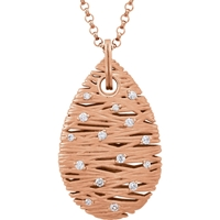 Picture of 0.20 Total Carat Designer Round Diamond Necklace