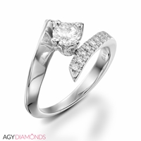 Picture of 0.38 Total Carat Designer Engagement Round Diamond Ring