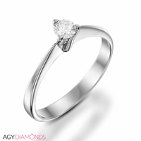 Picture of 0.15 Total Carat Solitaire Engagement Round Diamond Ring