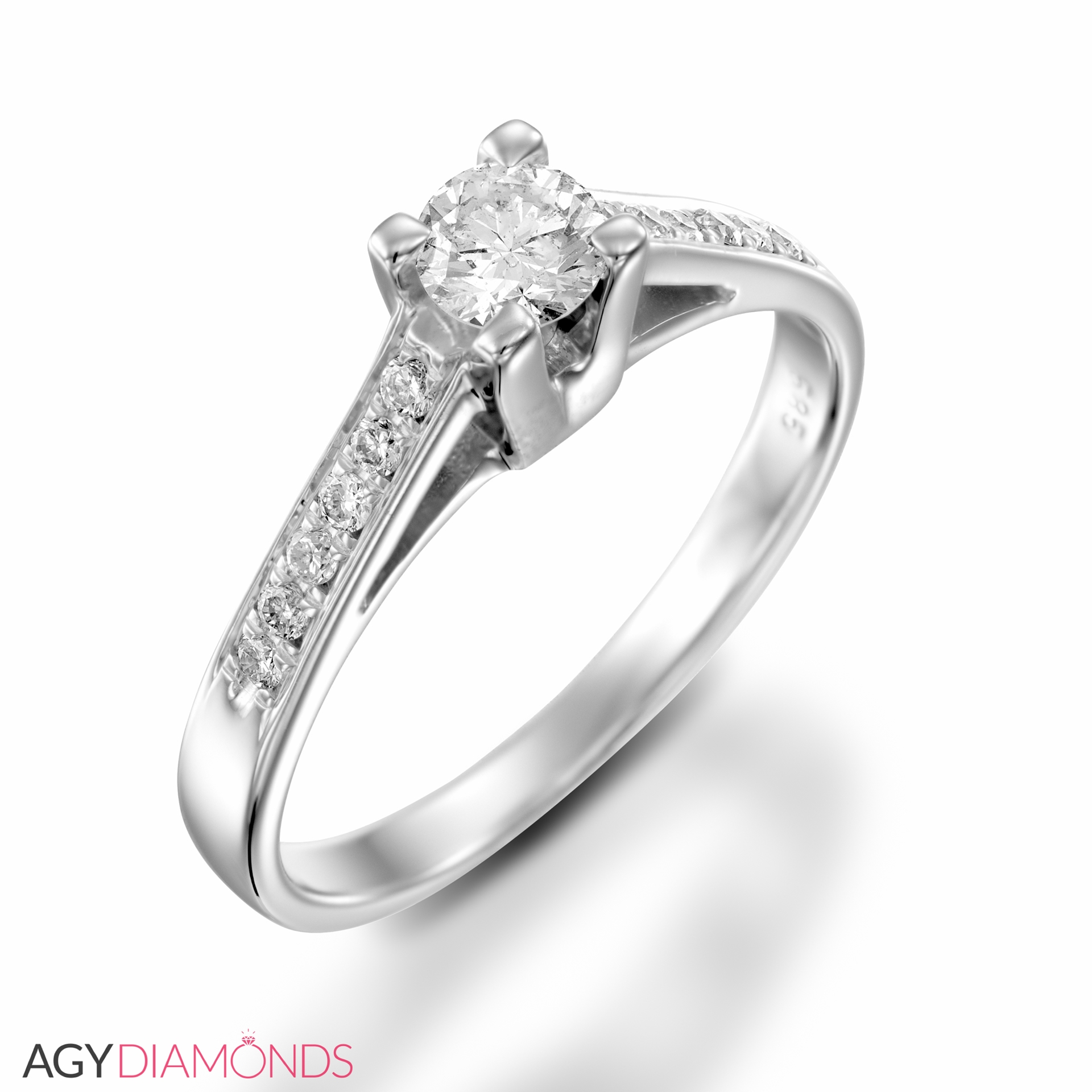 engagement all diamond with solid diamonds ring gold crown white pave rose half carat halo products round rings collections
