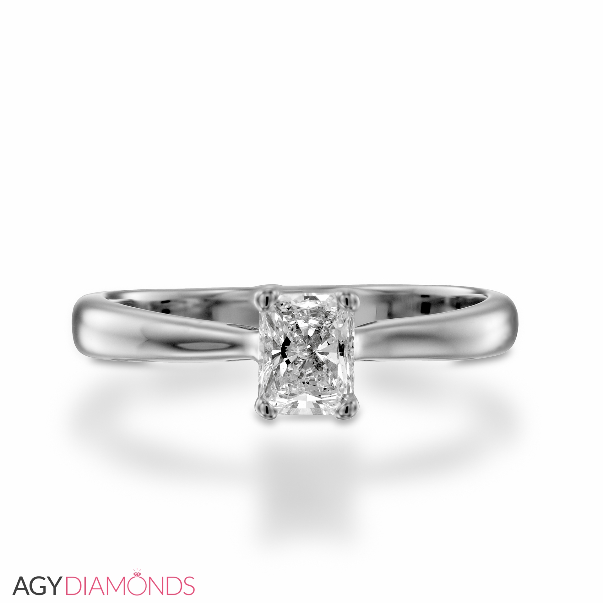set platinum jewelry engagement diamond cushion plat style cut ring in band pave solitaire cusion with