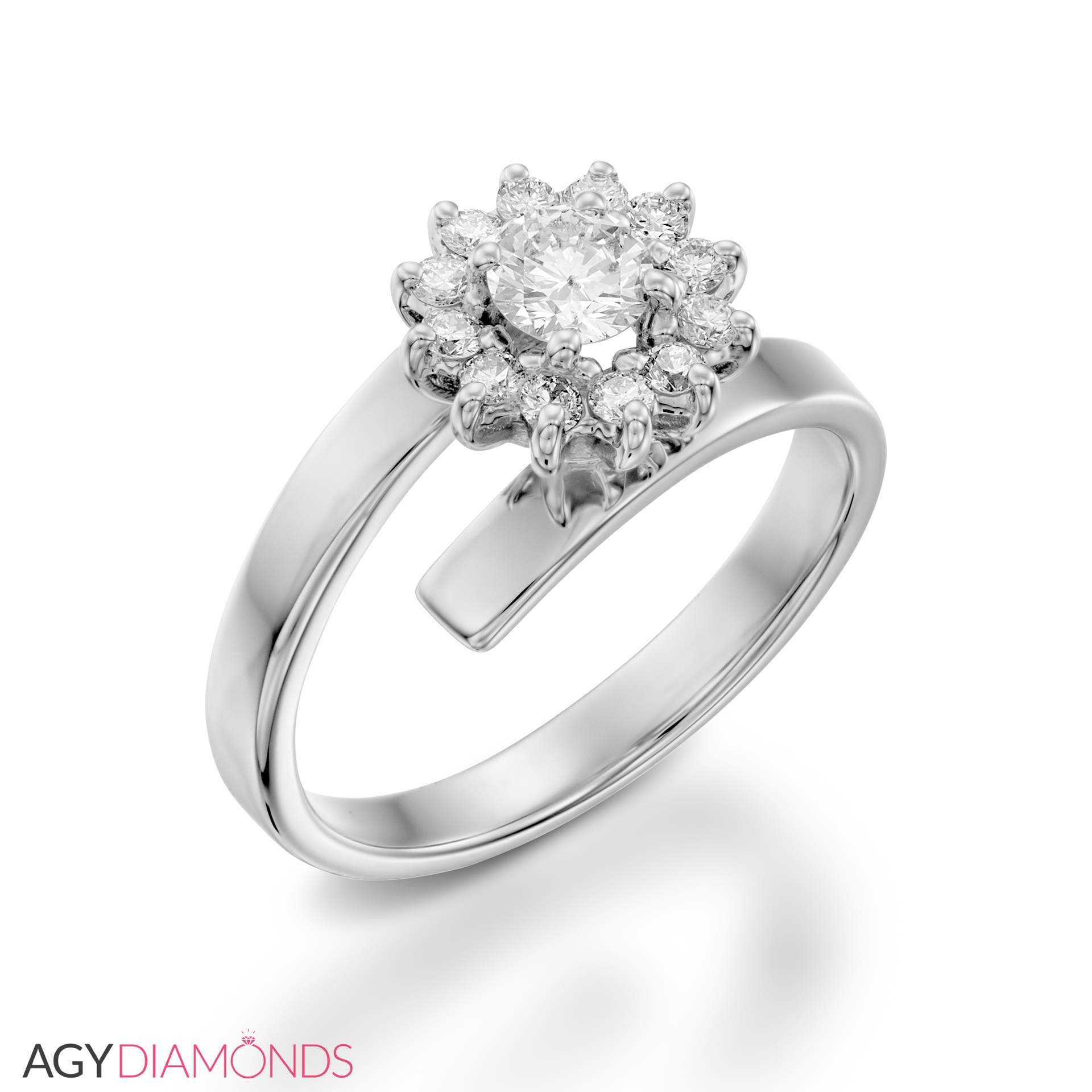 bloom certified with rings halo stunning a ring round gia diamond