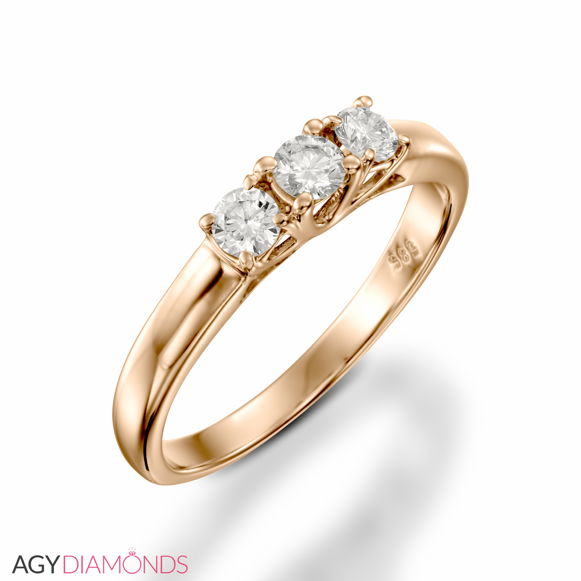 princess white shank edge stone engagement gold wedding rings pave with gallery in scroll ring and work beaded cut