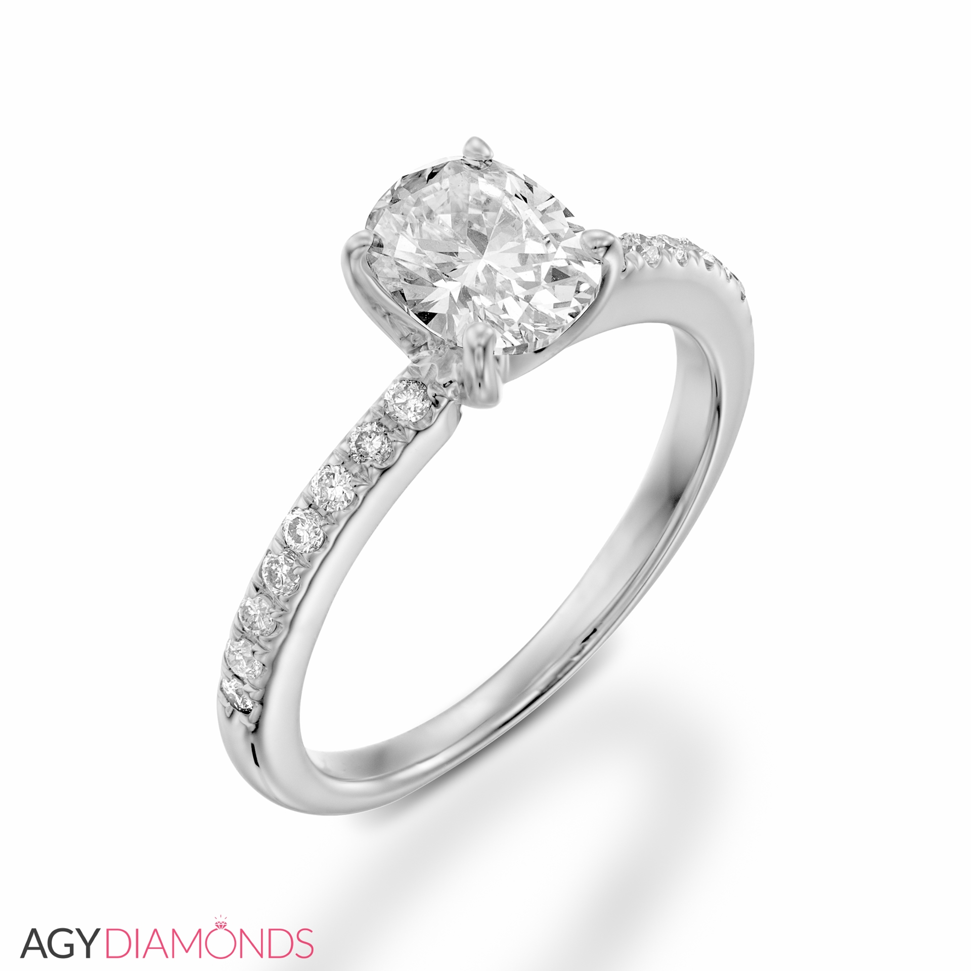 Classic Wedding Rings: 0.56 Total Carat Classic Engagement Oval Diamond Ring