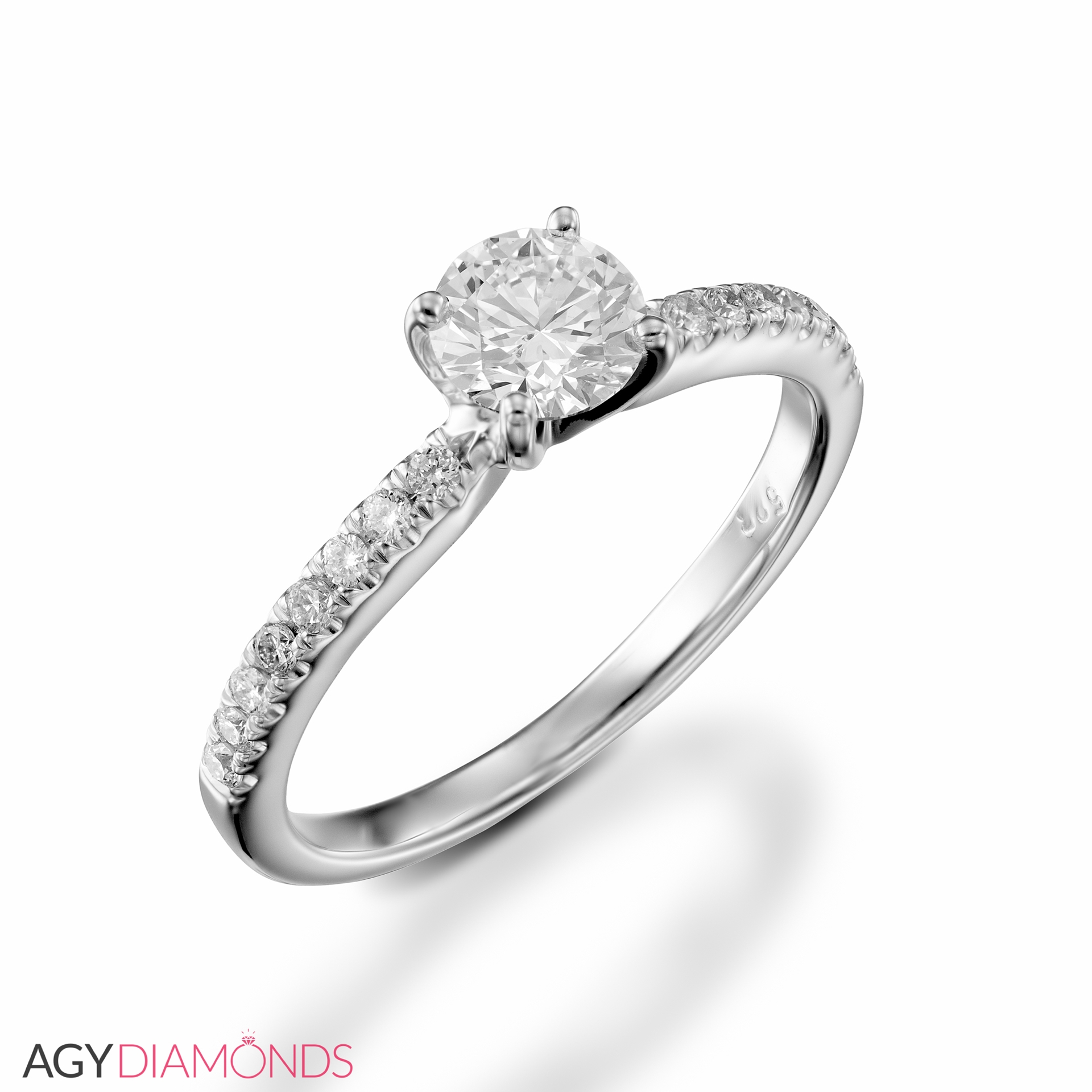 Classic Wedding Rings: 0.46 Total Carat Classic Engagement Round Diamond Ring
