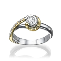 Picture of 0.44 Total Carat Designer Engagement Round Diamond Ring
