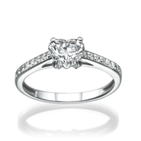 Picture of 0.44 Total Carat Heart Engagement Heart Diamond Ring