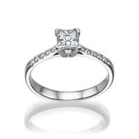 Picture of 0.50 Total Carat Classic Engagement Princess Diamond Ring