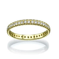 Picture of 0.40 Total Carat Eternity Wedding Round Diamond Ring