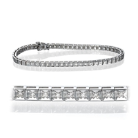 Picture of 0.56 Total Carat Tennis Round Diamond Bracelet