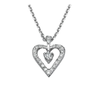 Picture of 0.20 Total Carat Heart Round Diamond Pendant