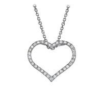 Picture of 0.17 Total Carat Heart Round Diamond Pendant