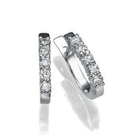 Picture of 0.50 Total Carat Hoop Round Diamond Earrings