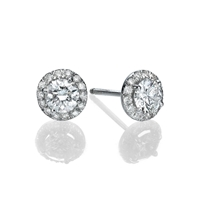 Picture of 1.94 Total Carat Stud Round Diamond Earrings