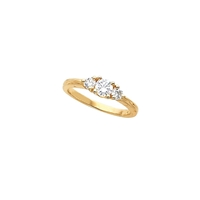Picture of 0.50 Total Carat Three Stone Engagement Round Diamond Ring