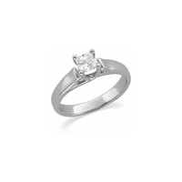 Picture of 0.50 Total Carat Solitaire Engagement Princess Diamond Ring