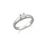Picture of 0.25 Total Carat Solitaire Engagement Princess Diamond Ring
