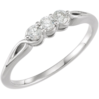 Picture of 0.25 Total Carat Three Stone Engagement Round Diamond Ring