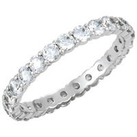 Picture of 1.17 Total Carat Eternity Wedding Round Diamond Ring