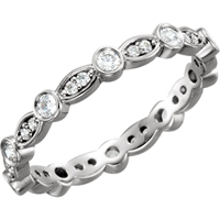 Picture of 0.50 Total Carat Eternity Wedding Round Diamond Ring