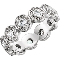 Picture of 0.88 Total Carat Eternity Wedding Round Diamond Ring