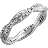 Picture of 0.20 Total Carat Eternity Wedding Round Diamond Ring
