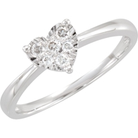 Picture of 0.13 Total Carat Heart Wedding Round Diamond Ring