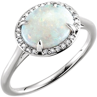 Picture of 0.06 Total Carat Halo Wedding Round Diamond Ring