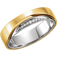 Picture of 0.05 Total Carat Designer Round Diamond Band