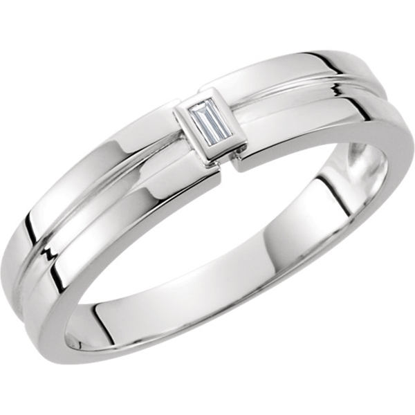 Picture of 0.05 Total Carat Designer Baguette Diamond Band
