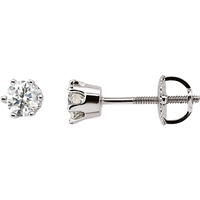 Picture of 0.50 Total Carat Stud Round Diamond Earrings