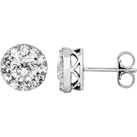 Picture of 1.33 Total Carat Halo Round Diamond Earrings
