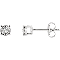 Picture of 0.08 Total Carat Stud Round Diamond Earrings