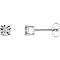 Picture of 0.10 Total Carat Stud Round Diamond Earrings
