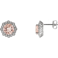 Picture of 0.13 Total Carat Halo Round Diamond Earrings