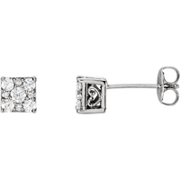 Picture of 0.33 Total Carat Stud Round Diamond Earrings
