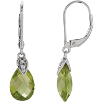 Picture of 0.03 Total Carat Drop Round Diamond Earrings