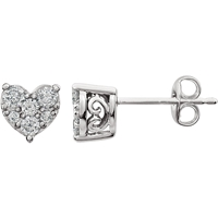 Picture of 0.38 Total Carat Heart Round Diamond Earrings