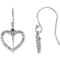 Picture of 0.20 Total Carat Heart Round Diamond Earrings